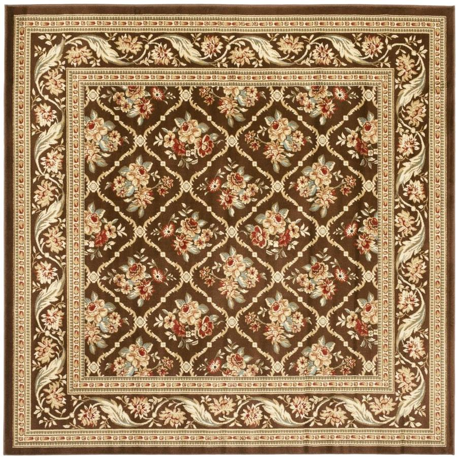 Safavieh Lyndhurst Brown and Brown Square Indoor Machine-Made Area Rug (Common: 7 x 7; Actual: 79-in W x 79-in L x 0.58-ft Dia)