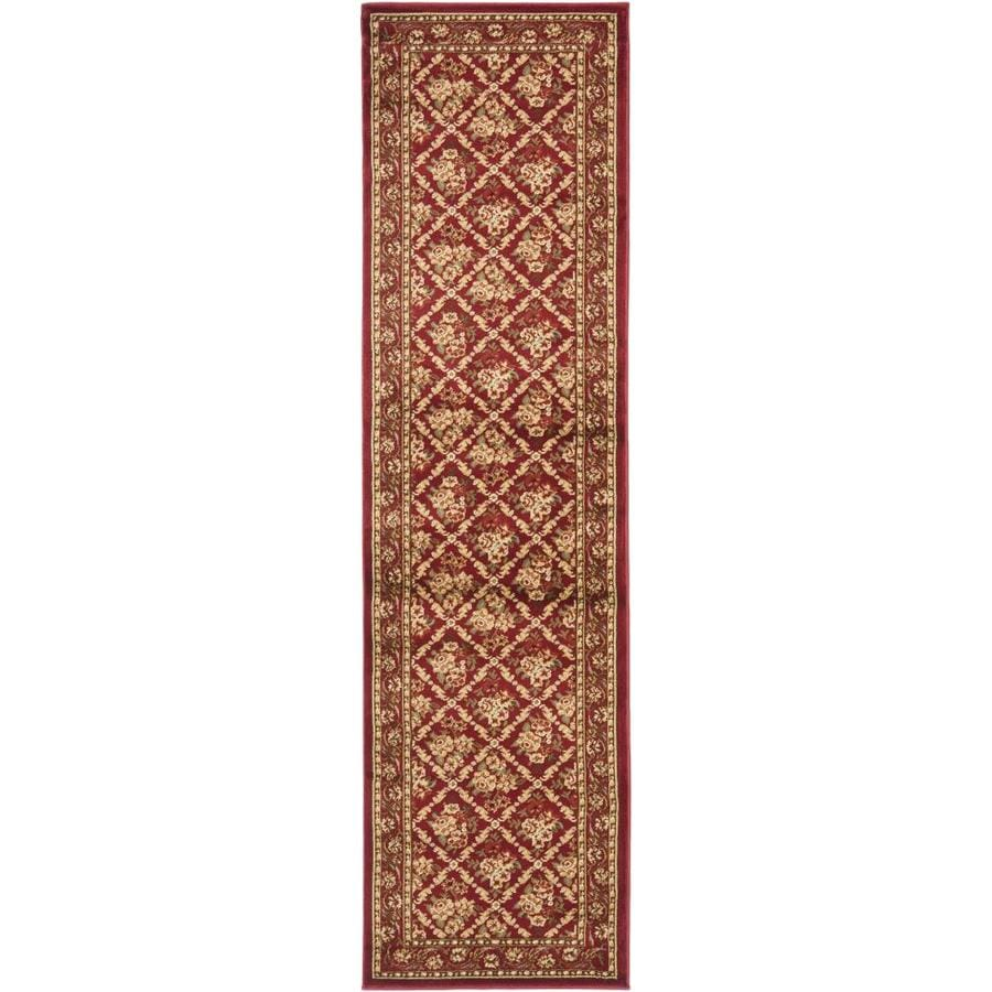 Safavieh Lyndhurst Red and Red Rectangular Indoor Machine-Made Runner (Common: 2 x 12; Actual: 27-in W x 144-in L x 0.33-ft Dia)