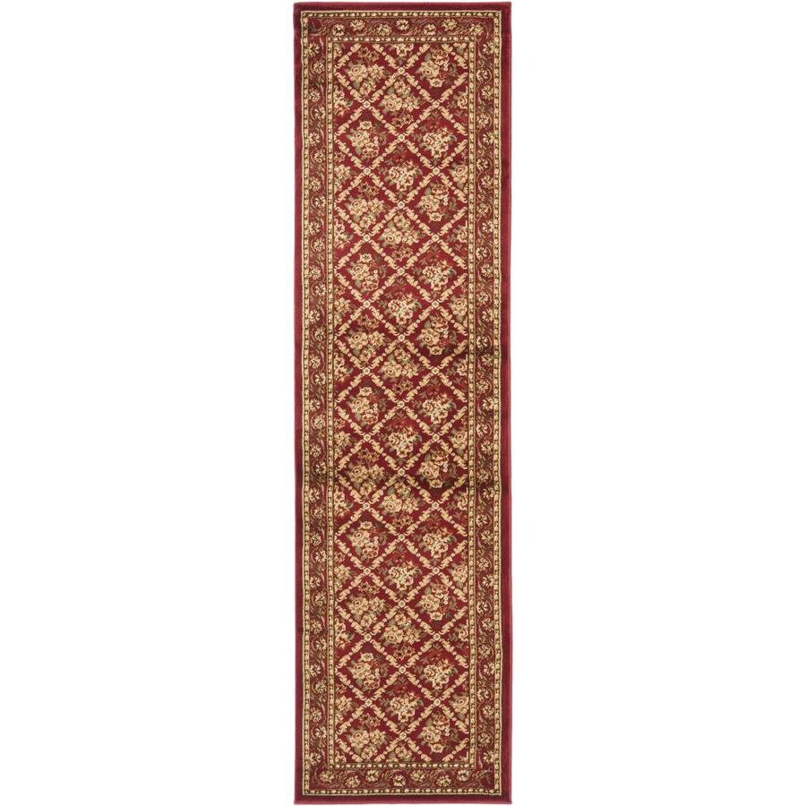 Safavieh Lyndhurst Red and Red Rectangular Indoor Machine-Made Runner (Common: 2 x 16; Actual: 27-in W x 192-in L x 0.5-ft Dia)