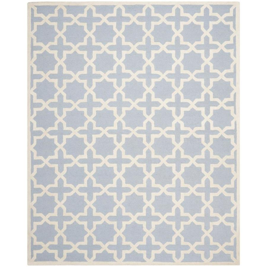 Safavieh Cambridge Light Blue and Ivory Rectangular Indoor Tufted Area Rug (Common: 8 x 10; Actual: 96-in W x 120-in L x 0.67-ft Dia)