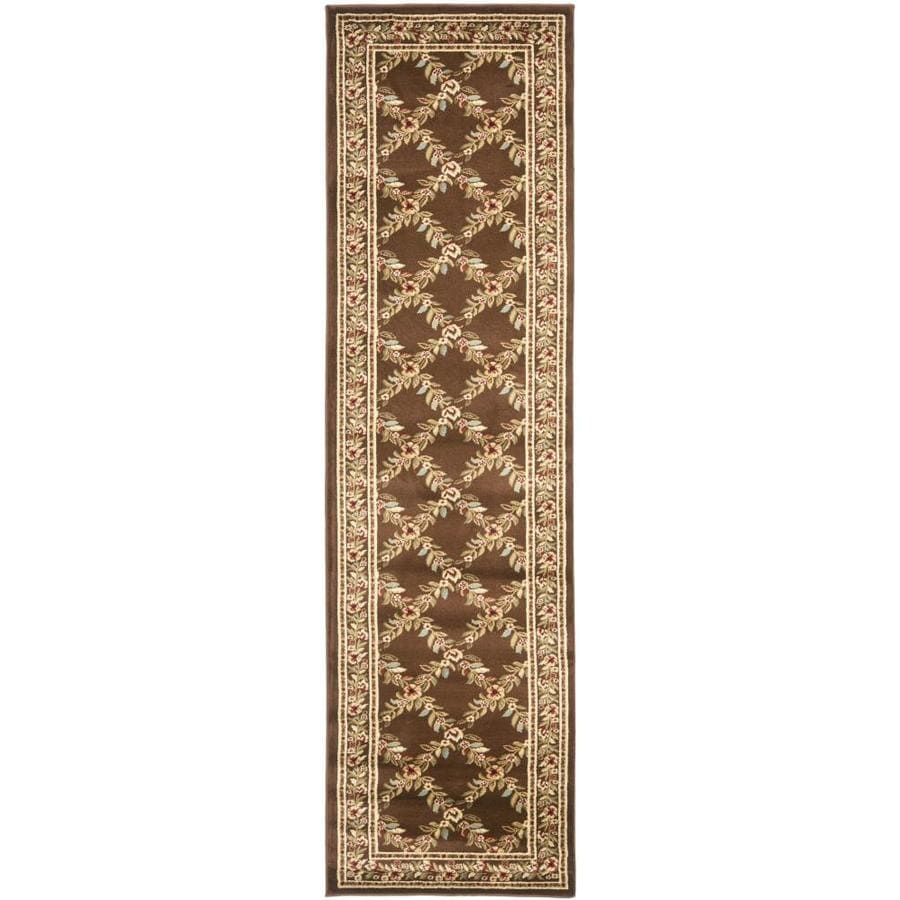 Safavieh Lyndhurst Brown and Brown Rectangular Indoor Machine-Made Runner (Common: 2 x 12; Actual: 27-in W x 144-in L x 0.33-ft Dia)