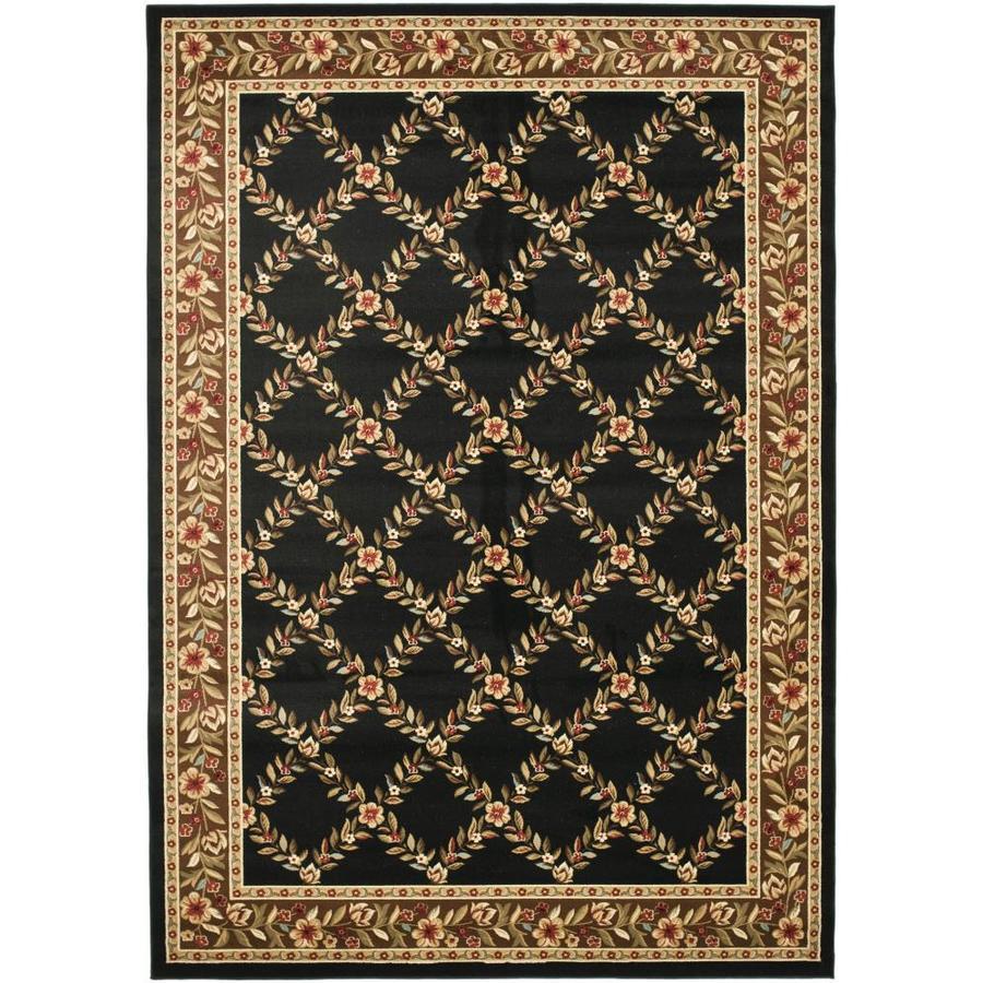 Safavieh Lyndhurst Black Rectangular Indoor Machine-Made Area Rug (Common: 6 x 9; Actual: 79-in W x 114-in L x 0.67-ft Dia)