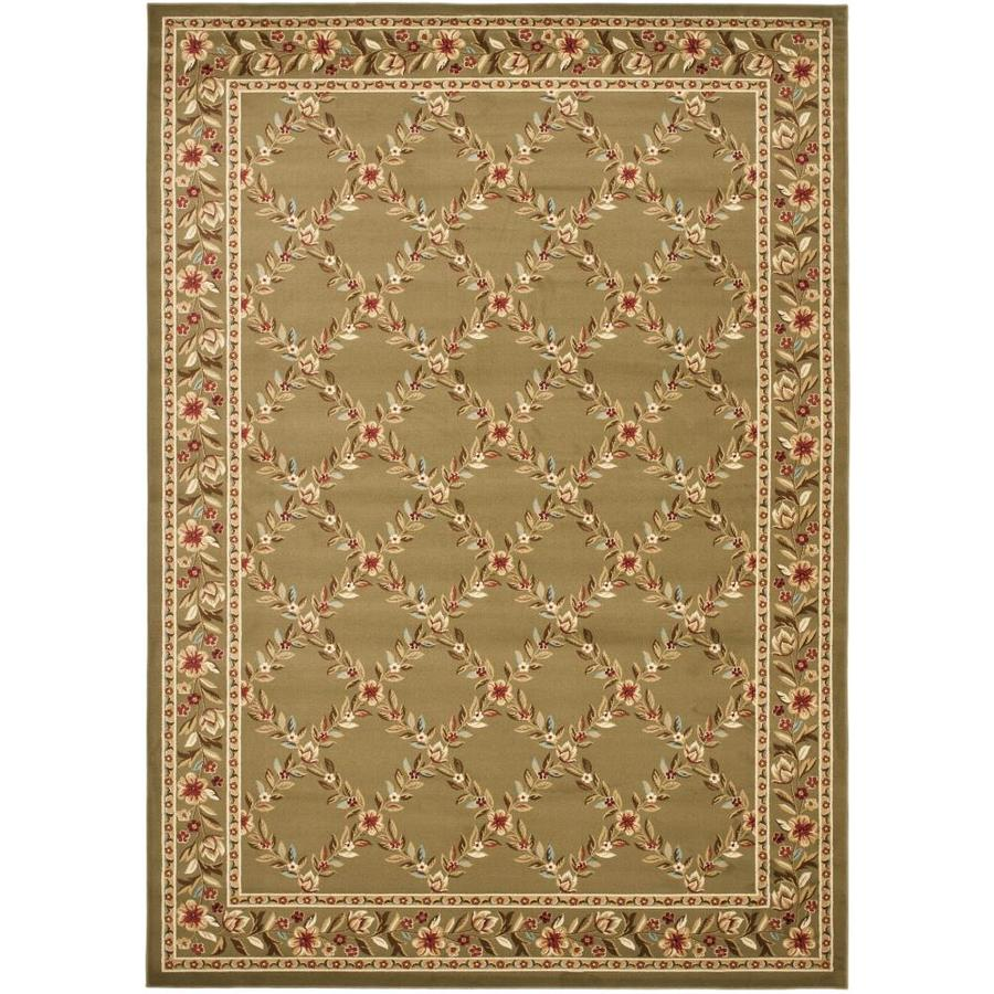 Safavieh Lyndhurst Green and Green Rectangular Indoor Machine-Made Area Rug (Common: 6 x 9; Actual: 79-in W x 114-in L x 0.67-ft Dia)