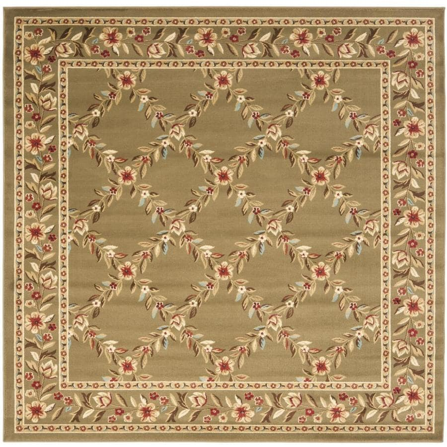 Safavieh Lyndhurst Green and Green Square Indoor Machine-Made Area Rug (Common: 7 x 7; Actual: 79-in W x 79-in L x 0.58-ft Dia)