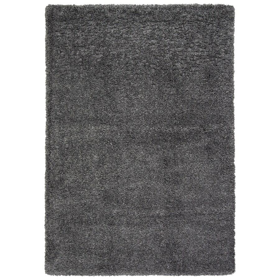 Safavieh California Shag Dark Grey Rectangular Indoor Machine-Made Area Rug (Common: 5 x 7; Actual: 63-in W x 90-in L x 0.75-ft Dia)