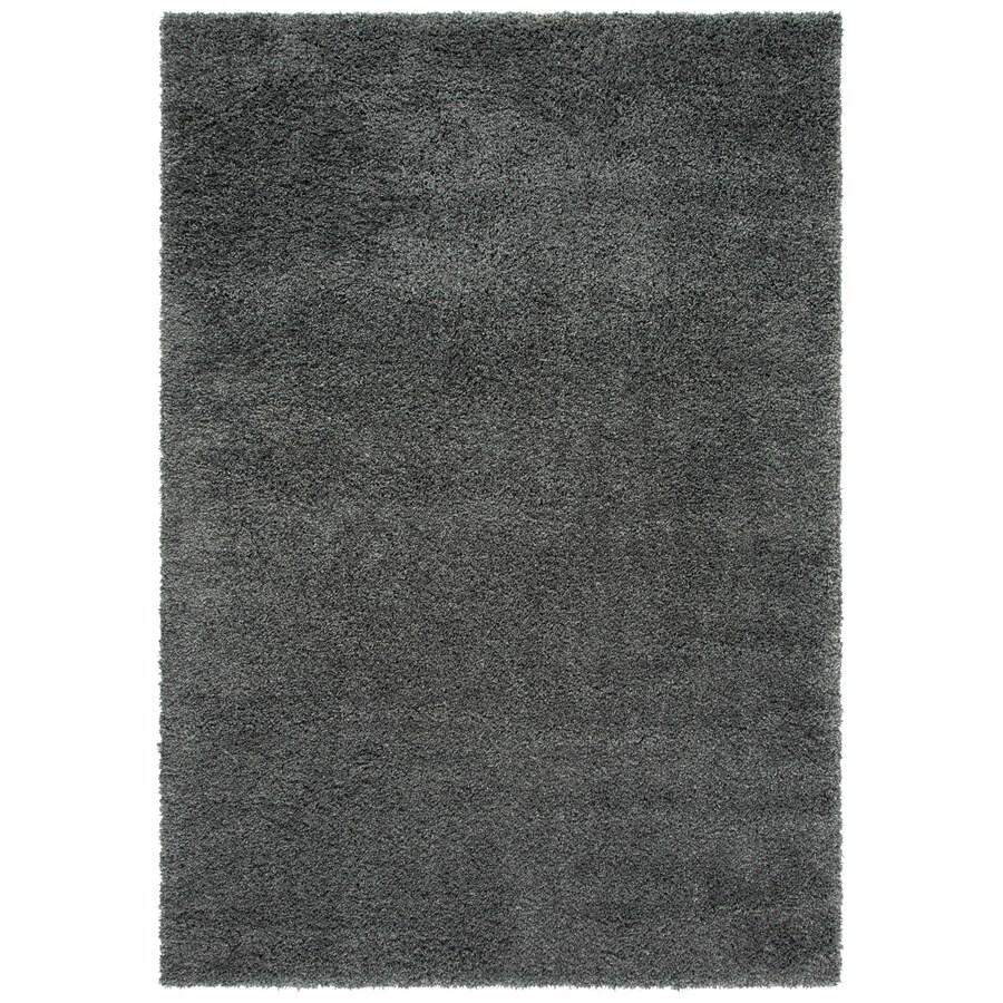 Safavieh California Shag Dark Grey Rectangular Indoor Machine-Made Area Rug (Common: 6 x 9; Actual: 79-in W x 114-in L x 0.92-ft Dia)