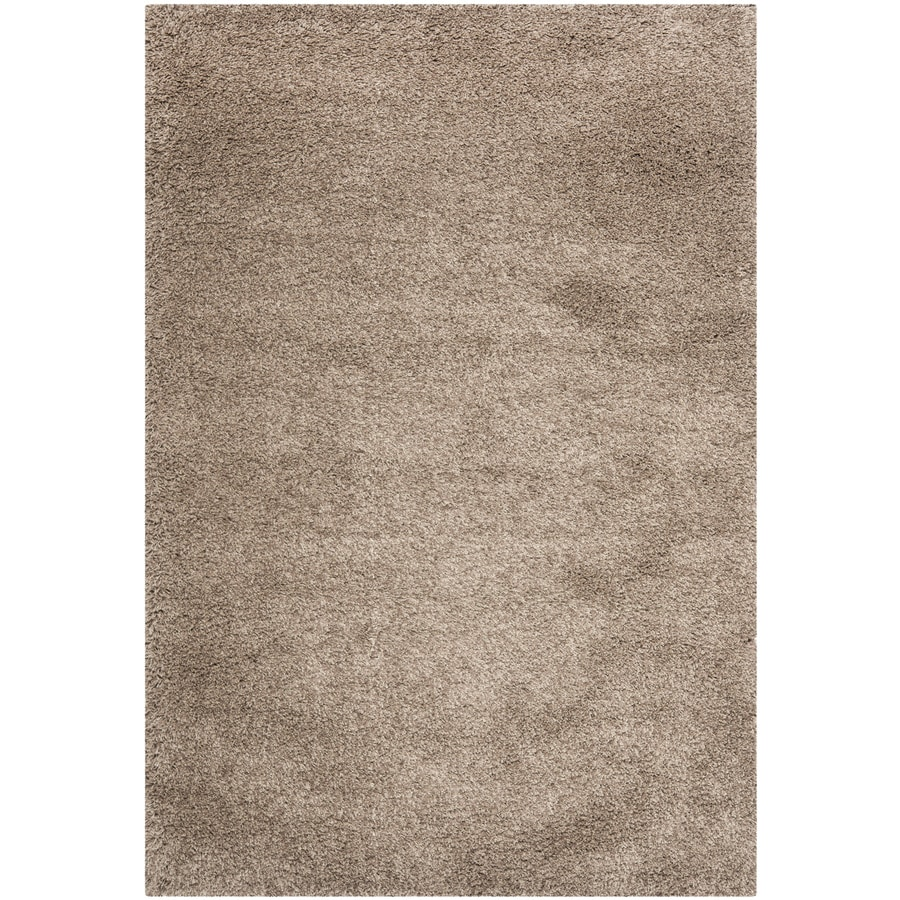 Safavieh California Shag Taupe Rectangular Indoor Machine-Made Area Rug (Common: 4 x 6; Actual: 48-in W x 72-in L x 0.58-ft Dia)
