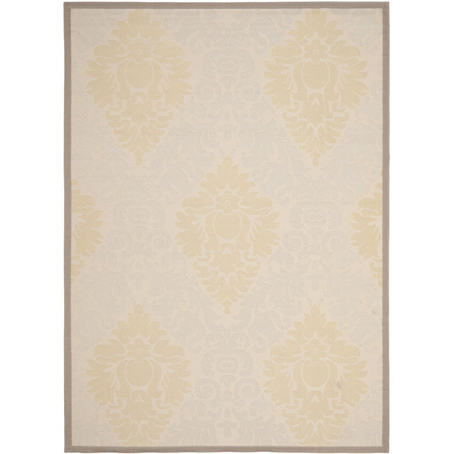 Safavieh Courtyard Rectangular Cream Transitional Indoor/Outdoor Woven Area Rug (Common: 8-ft x 11-ft; Actual: 8-ft x 11.16-ft)