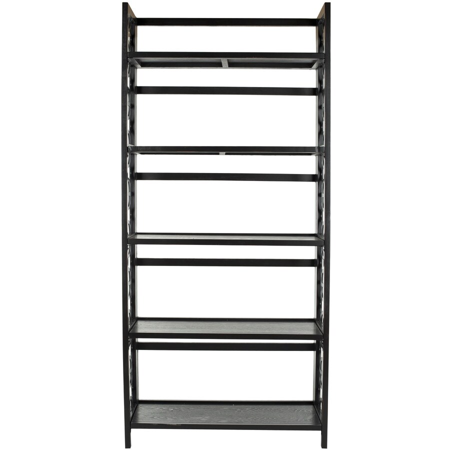 Safavieh American Home Black 33.5-in W x 73-in H x 13-in D 5-Shelf Bookcase