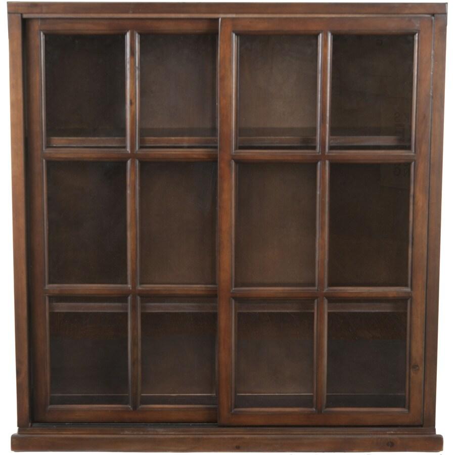 Safavieh American Home Walnut 37.8-in W x 40.2-in H x 11.4-in D 3-Shelf Bookcase