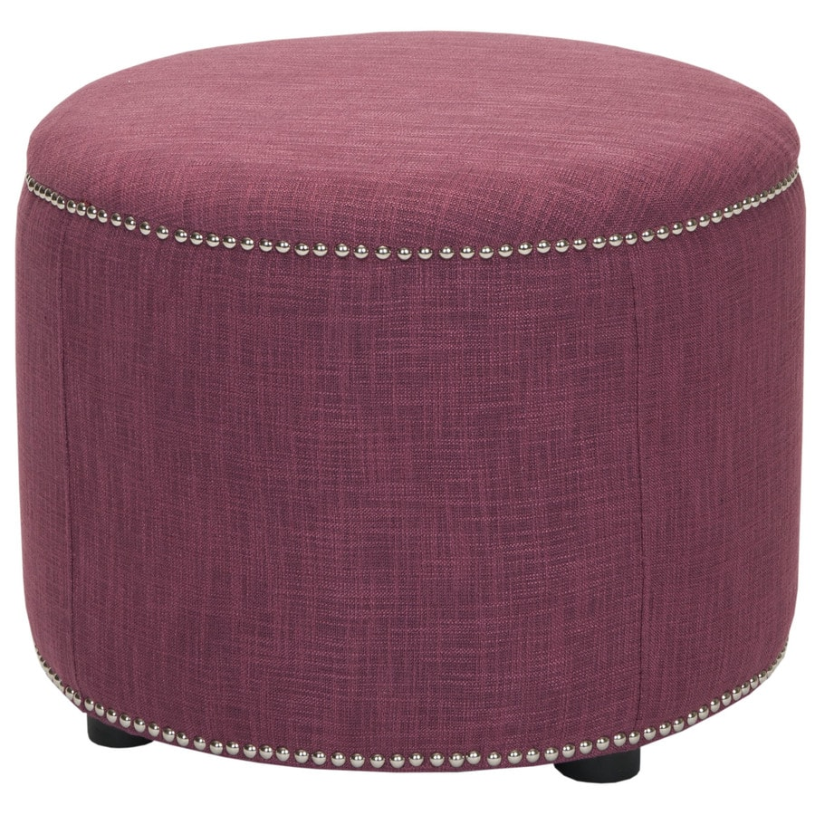 shop safavieh hudson rose round ottoman at. Black Bedroom Furniture Sets. Home Design Ideas