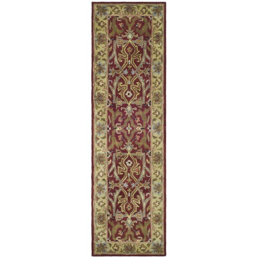 Safavieh Heritage Red and Gold Rectangular Indoor Tufted Runner (Common: 2 x 10; Actual: 27-in W x 120-in L x 0.67-ft Dia)