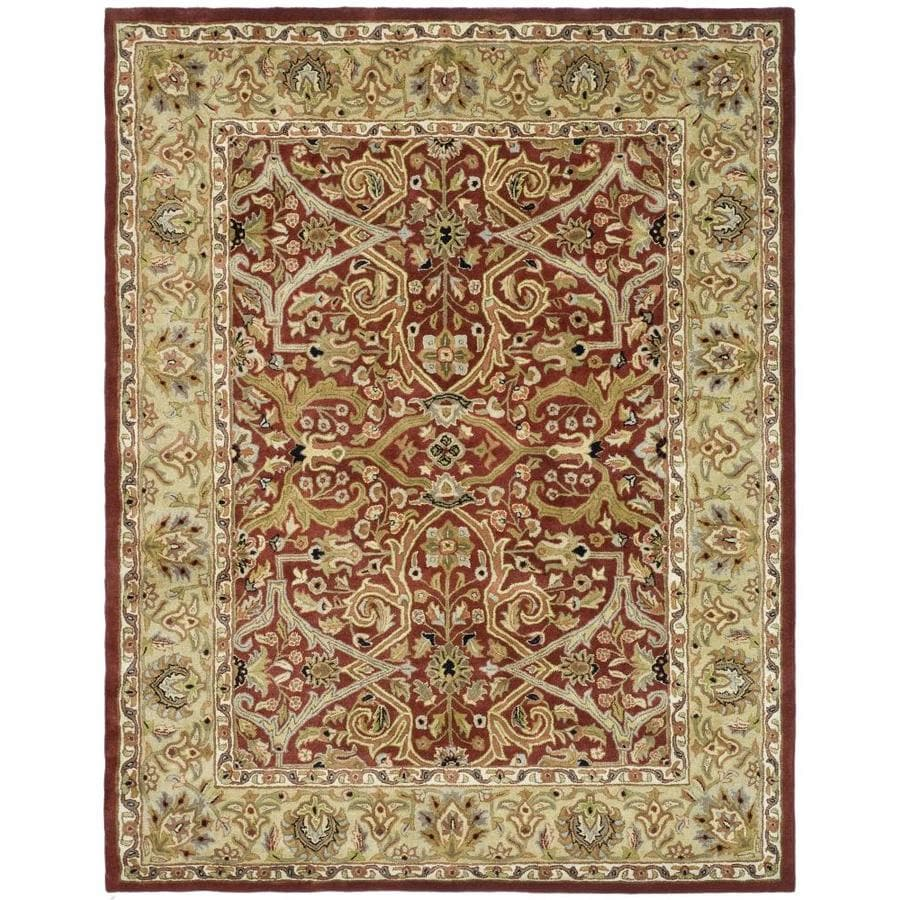 Safavieh Heritage Red and Gold Rectangular Indoor Tufted Area Rug (Common: 8 x 10; Actual: 90-in W x 114-in L x 0.67-ft Dia)