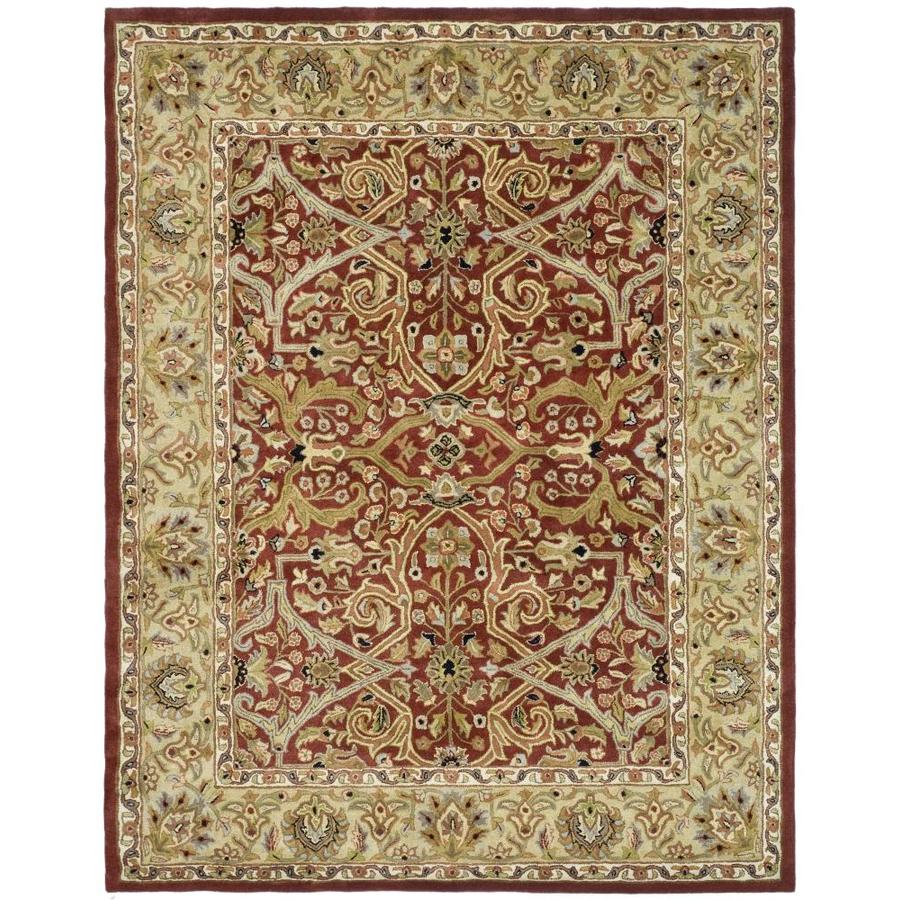Safavieh Heritage Red and Gold Rectangular Indoor Tufted Area Rug (Common: 8 x 11; Actual: 99-in W x 132-in L x 0.67-ft Dia)