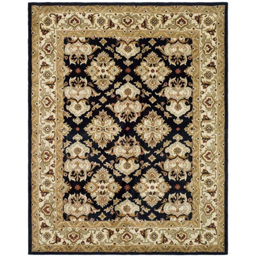 Safavieh Heritage Black and Ivory Rectangular Indoor Tufted Area Rug (Common: 4 x 6; Actual: 48-in W x 72-in L x 0.5-ft Dia)