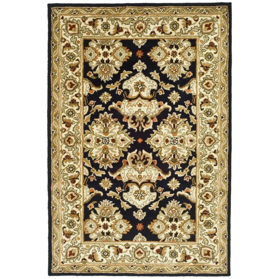 Safavieh Heritage Black and Ivory Rectangular Indoor Tufted Area Rug (Common: 5 x 8; Actual: 60-in W x 96-in L x 0.58-ft Dia)