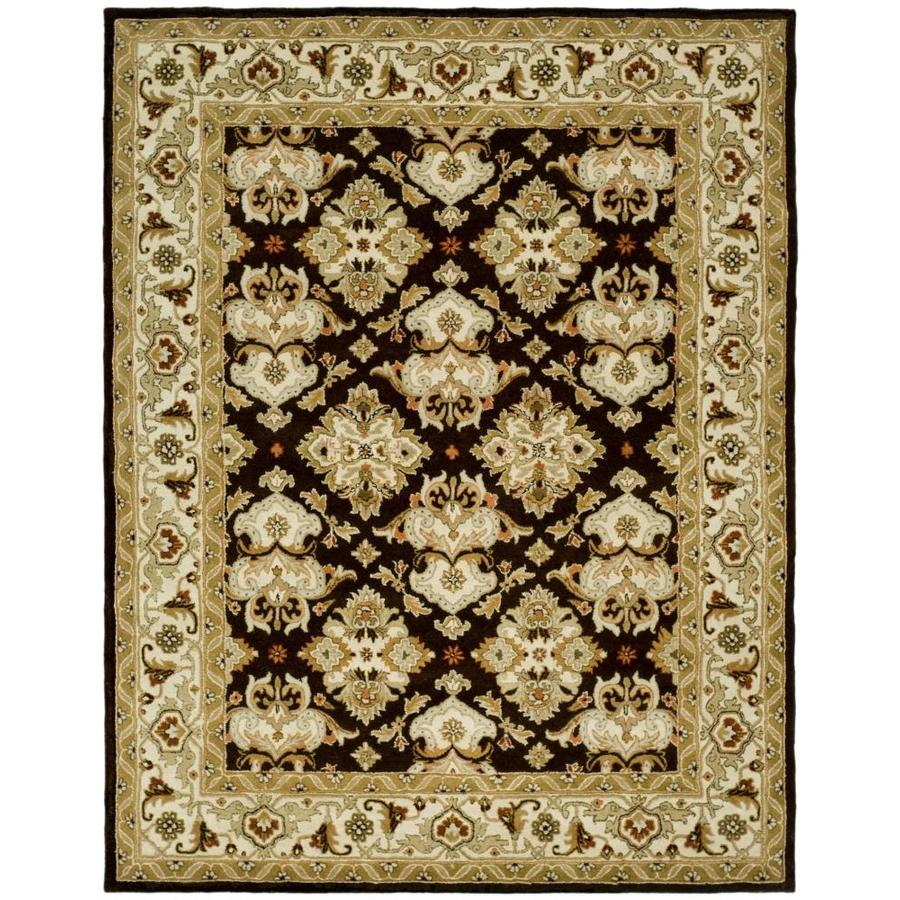 Safavieh Heritage Espresso and Ivory Rectangular Indoor Tufted Area Rug (Common: 8 x 10; Actual: 90-in W x 114-in L x 0.67-ft Dia)