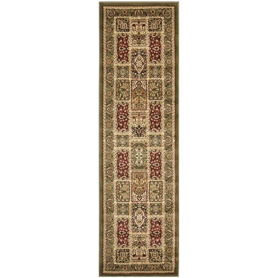 Safavieh Lyndhurst Multicolor and Green Rectangular Indoor Machine-Made Runner (Common: 2 x 14; Actual: 27-in W x 168-in L x 0.42-ft Dia)