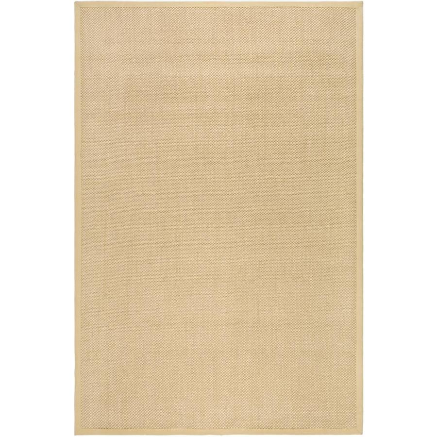 Safavieh Natural Fiber Maize Rectangular Indoor Woven Area Rug (Common: 6 x 9; Actual: 72-in W x 108-in L x 0.67-ft Dia)