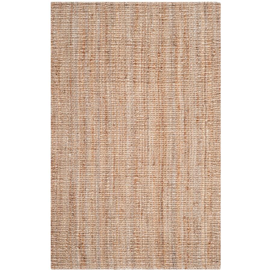 Safavieh Natural Fiber Natural Rectangular Indoor Woven Throw Rug (Common: 3 x 5; Actual: 36-in W x 60-in L x 0.42-ft Dia)