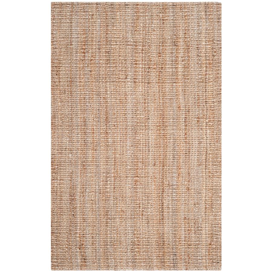 Safavieh Natural Fiber Natural Rectangular Indoor Woven Area Rug (Common: 4 x 6; Actual: 48-in W x 72-in L x 0.5-ft Dia)