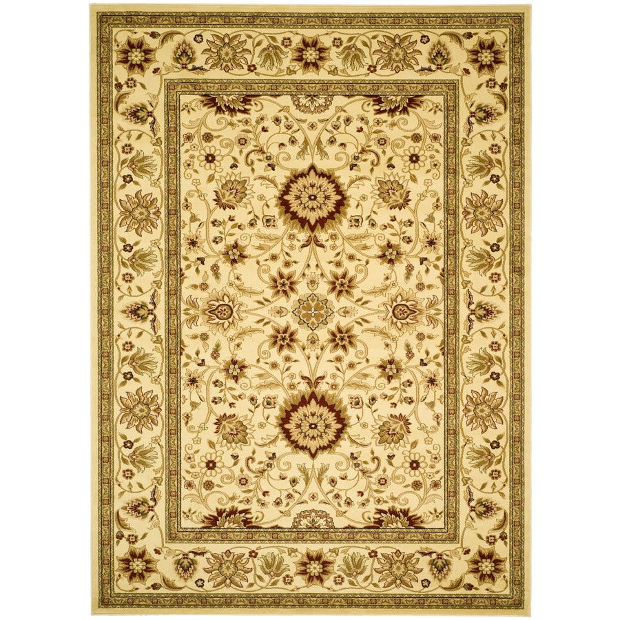 Safavieh Lyndhurst Ivory and Ivory Rectangular Indoor Machine-Made Area Rug (Common: 8 x 10; Actual: 96-in W x 120-in L x 0.58-ft Dia)