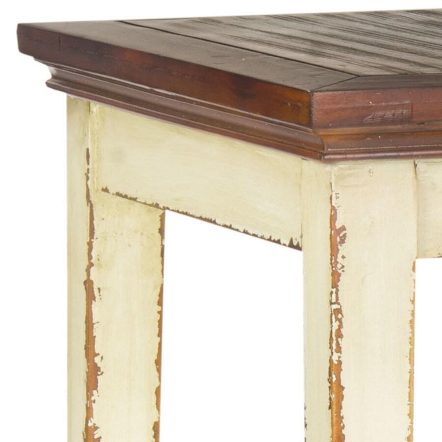 Safavieh American Home White Fir Square Coffee Table