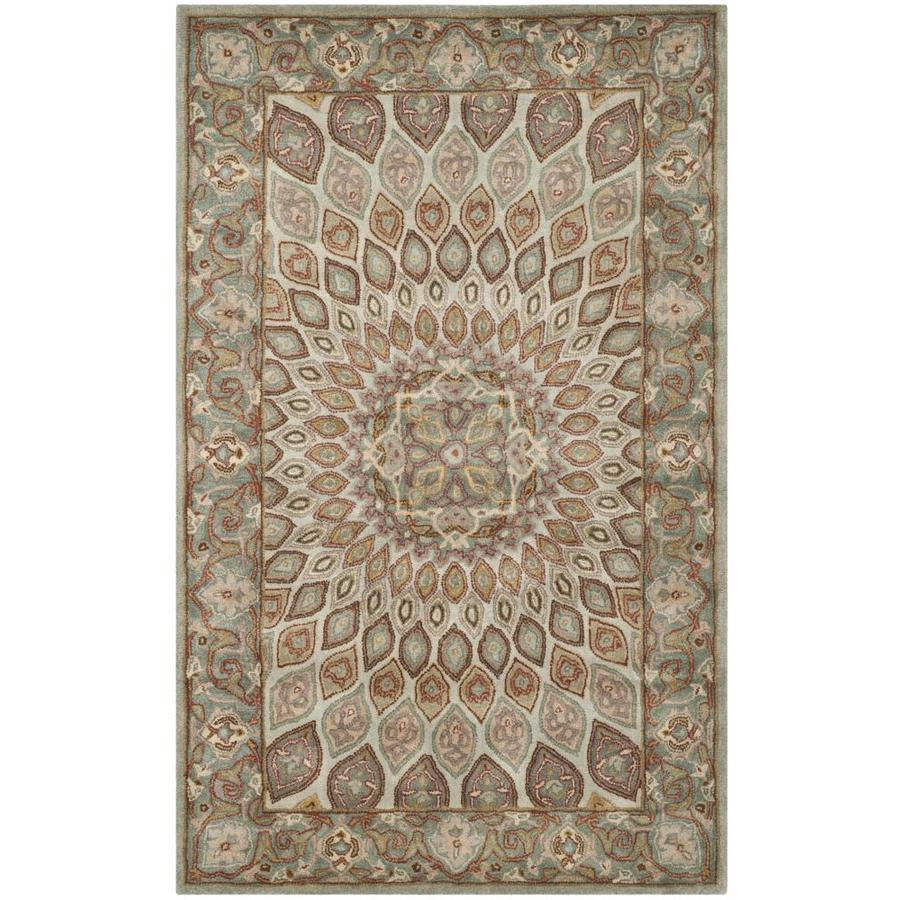 Safavieh Heritage Blue and Grey Rectangular Indoor Tufted Area Rug (Common: 5 x 8; Actual: 60-in W x 96-in L x 0.58-ft Dia)