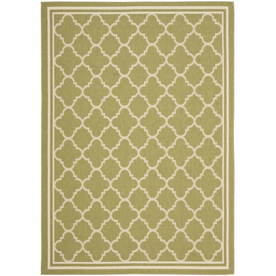 Safavieh Courtyard 5-ft 3-in x 7-ft 7-in Rectangular Green Transitional Indoor/Outdoor Area Rug