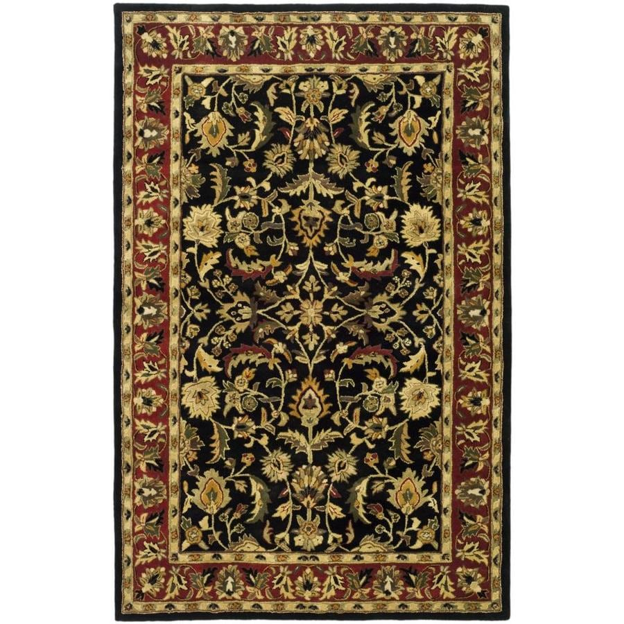 Safavieh Heritage Black and Red Rectangular Indoor Tufted Area Rug (Common: 5 x 8; Actual: 60-in W x 96-in L x 0.58-ft Dia)