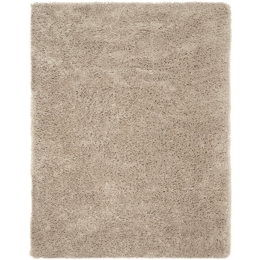 Safavieh Shag Taupe Rectangular Indoor Tufted Area Rug (Common: 8 x 10; Actual: 90-in W x 114-in L x 0.92-ft Dia)