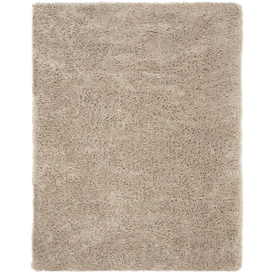 Safavieh Shag Taupe Rectangular Indoor Tufted Area Rug (Common: 9 x 12; Actual: 102-in W x 138-in L x 0.92-ft Dia)