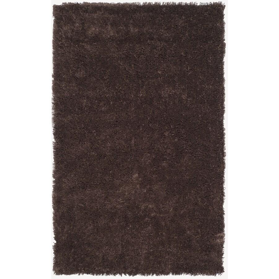 Safavieh Shag Chocolate Rectangular Indoor Tufted Area Rug (Common: 5 x 8; Actual: 60-in W x 96-in L x 0.58-ft Dia)