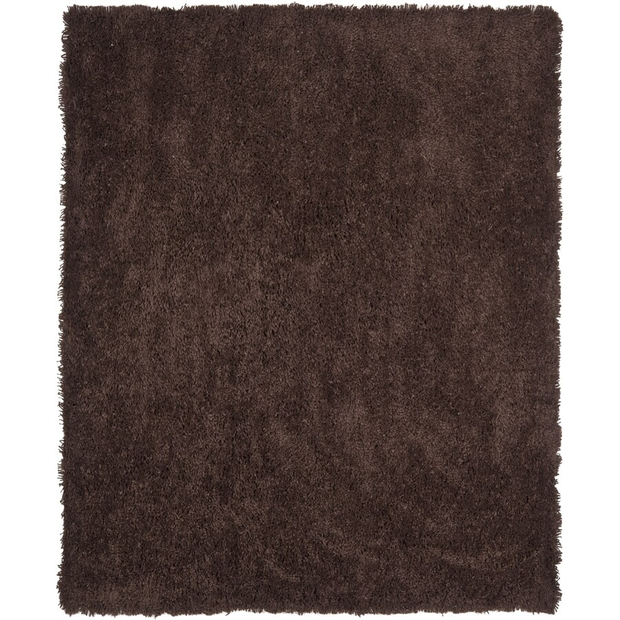 Safavieh Shag Chocolate Rectangular Indoor Tufted Area Rug (Common: 7 x 7; Actual: 84-in W x 84-in L x 0.92-ft Dia)