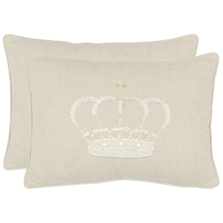 Safavieh 2-Piece 13-in W x 19-in L Light Cream Rectangular Indoor Decorative Complete Pillows