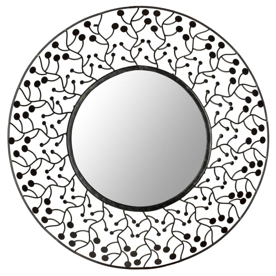 Safavieh 26-in x 26-in Metal Polished Round Framed Venetian Wall Mirror