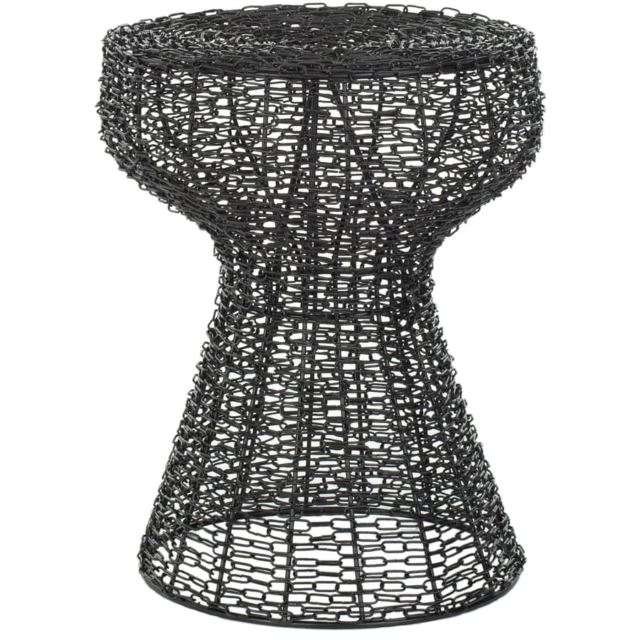 Safavieh Fox Matt Black Epoxy Round End Table