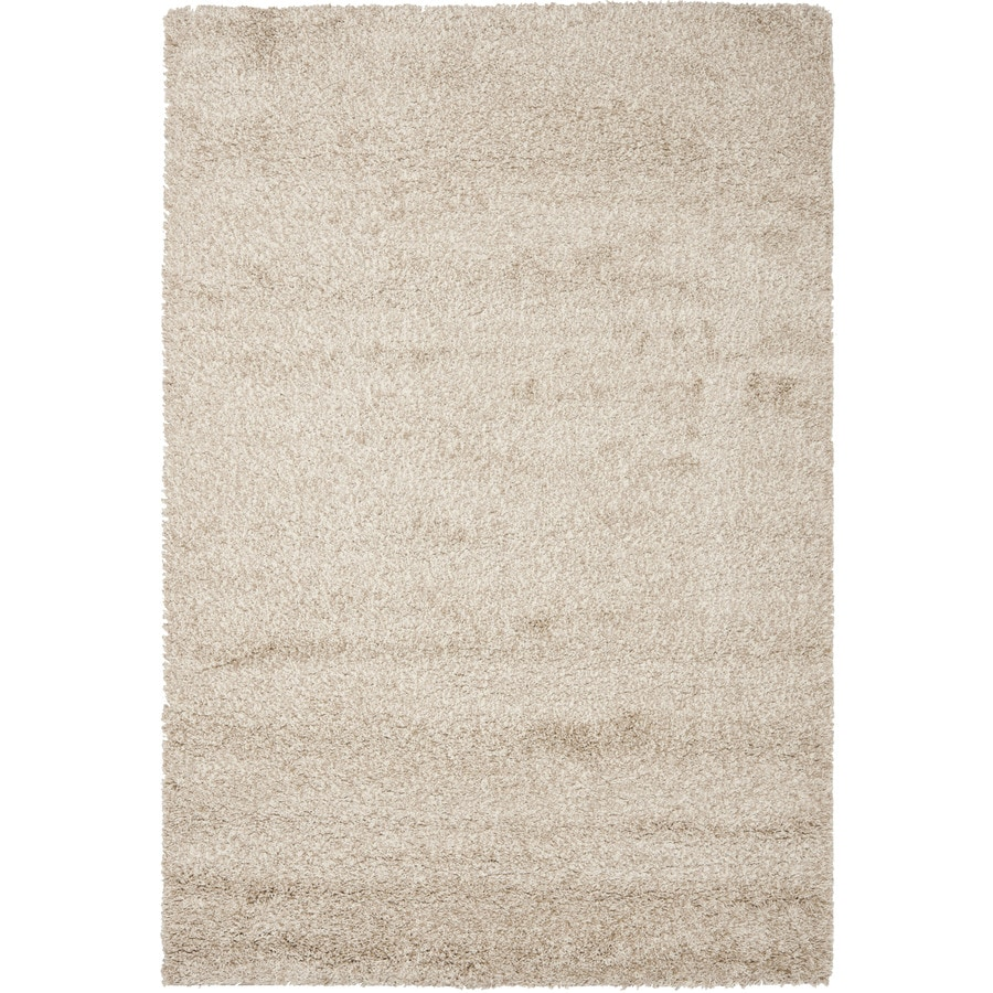 Safavieh Shag Beige Rectangular Indoor Machine-Made Area Rug (Common: 11 x 15; Actual: 132-in W x 180-in L x 1.33-ft Dia)
