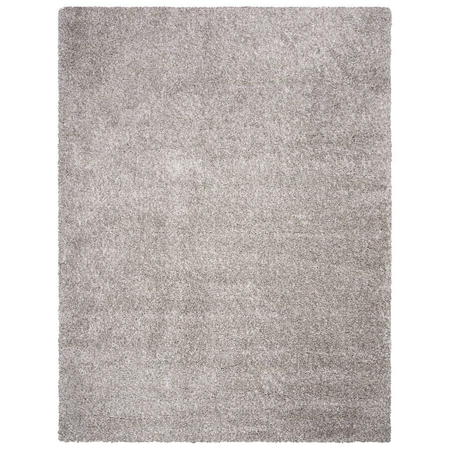 Safavieh Shag Silver Rectangular Indoor Machine-Made Area Rug (Common: 11 x 15; Actual: 132-in W x 180-in L x 1.33-ft Dia)