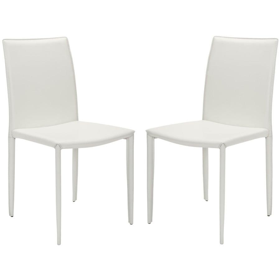 Safavieh Set of 2 Fox White Side Chairs