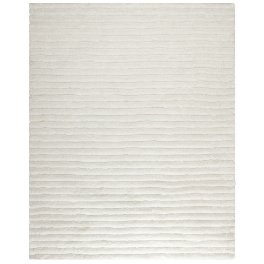 Safavieh Shag Pearl Rectangular Indoor Tufted Area Rug (Common: 8 x 10; Actual: 96-in W x 120-in L x 0.67-ft Dia)