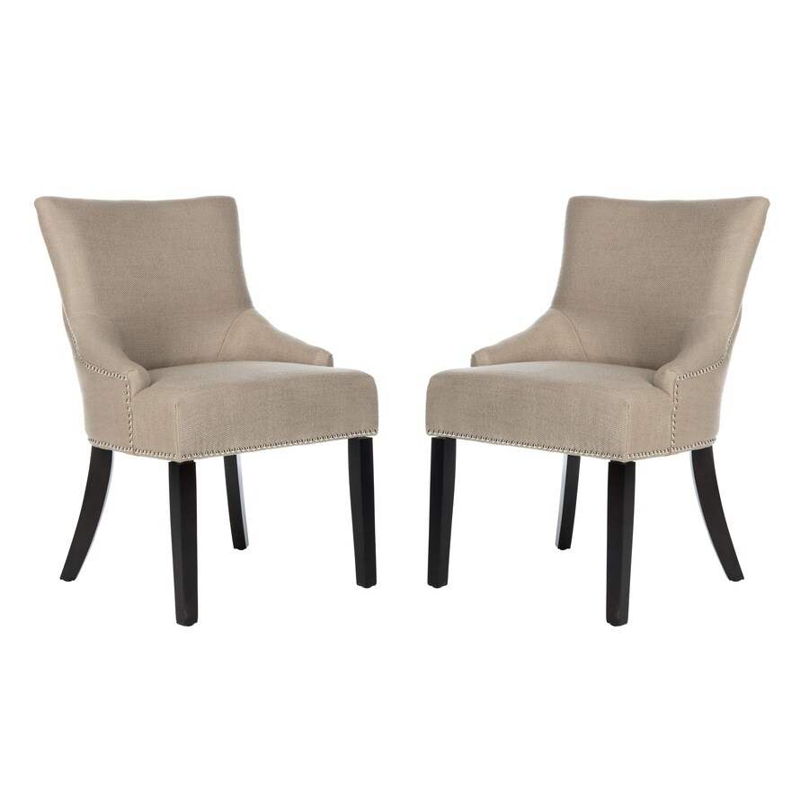 Safavieh Set of 2 Mercer Gray Side Chairs