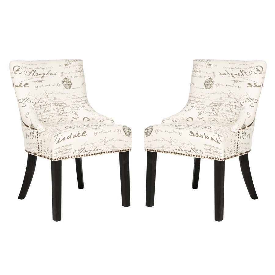 Safavieh Set of 2 Mercer White Side Chairs