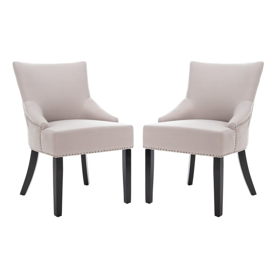 Safavieh Set of 2 Mercer Beige Side Chairs