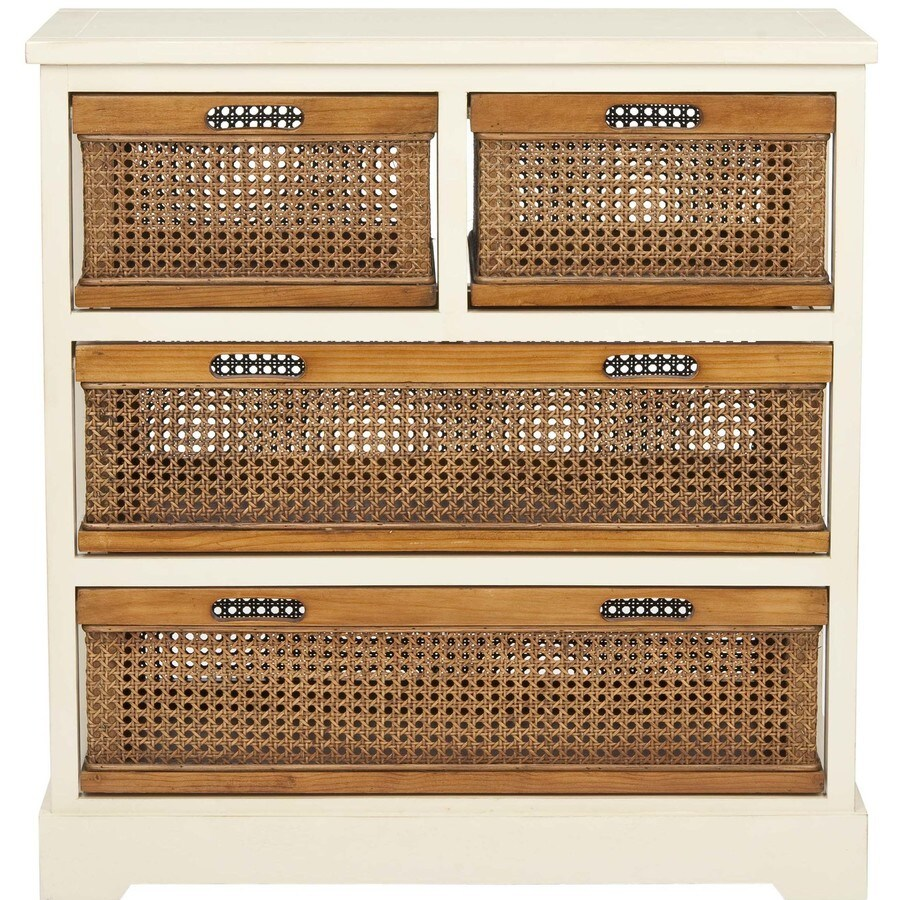 Safavieh American Home White 4-Drawer Dresser