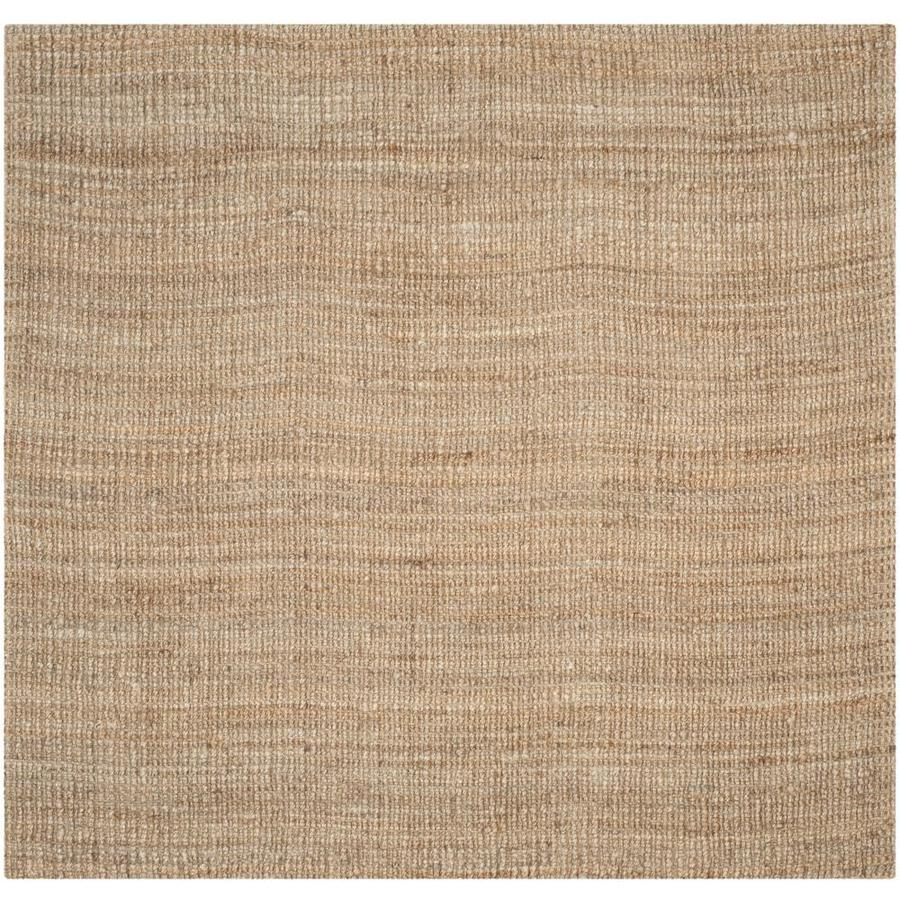Safavieh Natural Fiber Natural Square Indoor Woven Area Rug (Common: 8 x 8; Actual: 96-in W x 96-in L x 0.67-ft Dia)