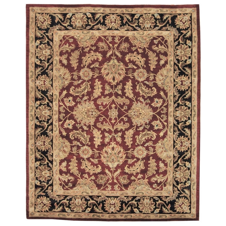 Safavieh Heritage Red and Black Rectangular Indoor Tufted Area Rug (Common: 12 x 15; Actual: 144-in W x 180-in L x 0.83-ft Dia)