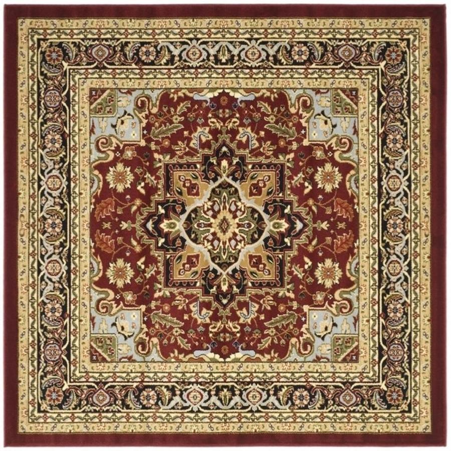 Safavieh Lyndhurst Red and Black Square Indoor Machine-Made Area Rug (Common: 8 x 8; Actual: 96-in W x 96-in L x 0.5-ft Dia)