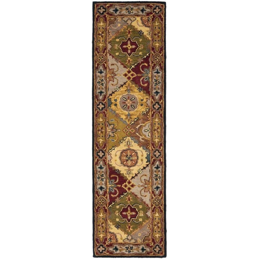 Safavieh Heritage Multicolor and Red Rectangular Indoor Tufted Runner (Common: 2 x 10; Actual: 27-in W x 120-in L x 0.67-ft Dia)