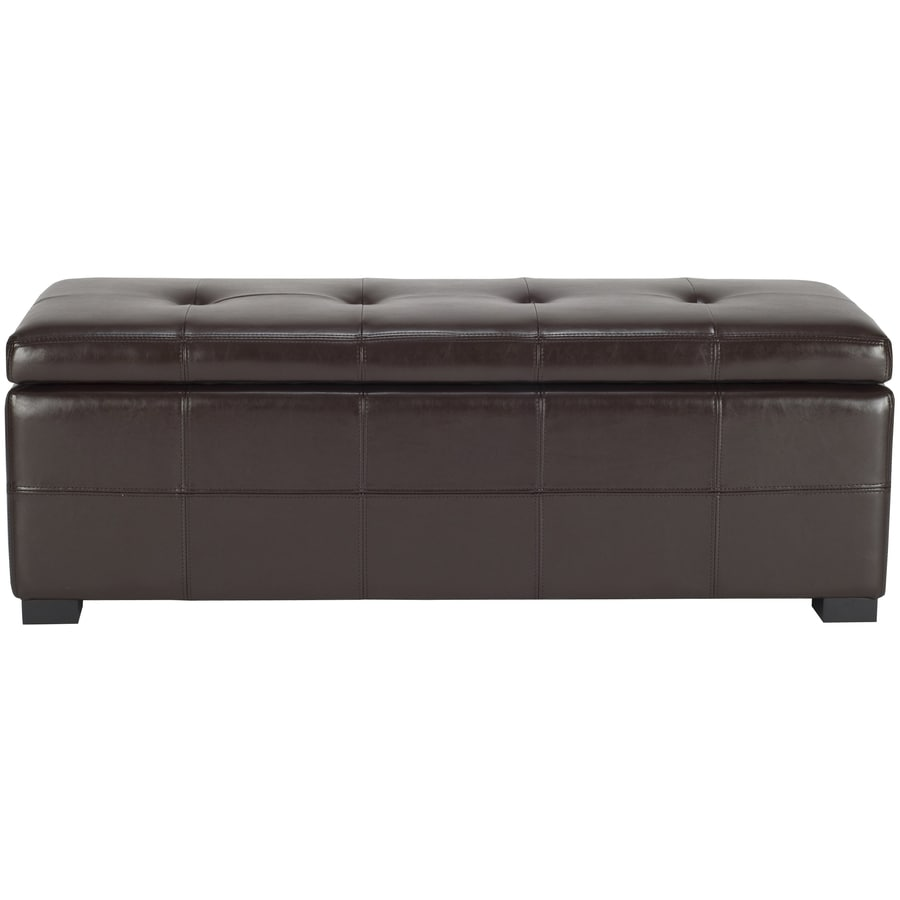 Safavieh Hudson Collection Brown Rectangle Storage Ottoman